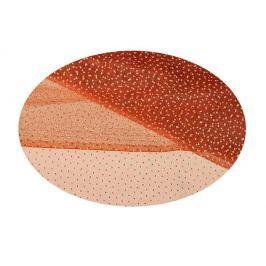 EverGreen Dekorační organza puntíky měděná 2 x 1,5 m