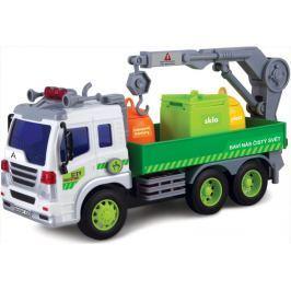 MaDe Auto popelářské s popelnicemi na setrvačník 32x18cm