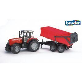 Bruder Farmer - traktor Massey Ferguson s přívěsem