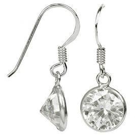 JwL Luxury Pearls Stříbrné náušnice s třpytivými krystaly JL0282 stříbro 925/1000