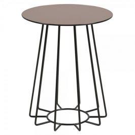 Design Scandinavia Konferenční / noční stolek Goldy, 50 cm, černá/bronz