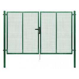 Dvoukřídlá brána PILGATE poplastovaná Zn+PVC 3024×1950 mm