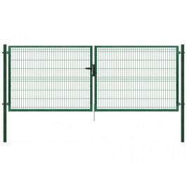 Dvoukřídlá brána poplastovaná Zn+PVC 4118×1230 mm