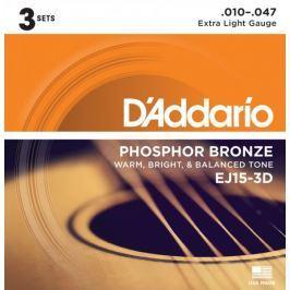 Daddario EJ15-3D Kovové struny pro akustickou kytaru