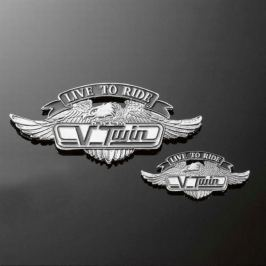 Highway-Hawk emblém samolepící  V-TWIN LTR, 110mm