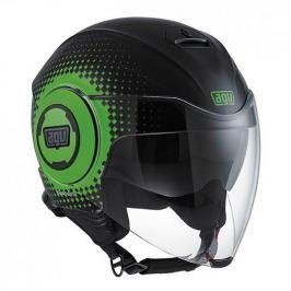 AGV přilba FLUID Pix, černá/zelená vel.L (59-60cm)