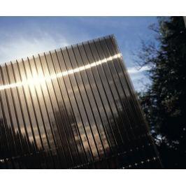 LanitPlast Polykarbonát komůrkový 16 mm bronz - 7 stěn - 2,5 kg/m2 1,05x1 m