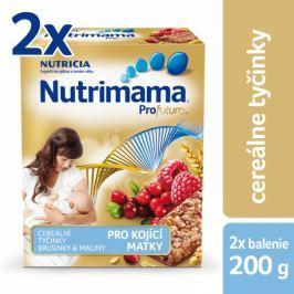 Nutrilon Nutrimama Cereální tyčinky brusinka/maliny 2 × 200 g