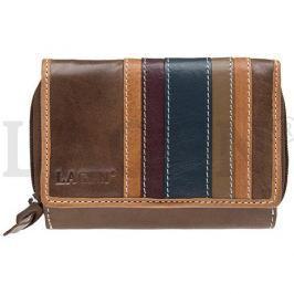 Lagen Dámská kožená peněženka HOL-95 Brown - Multi