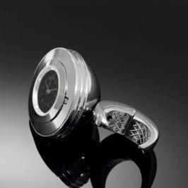 Highway-Hawk hodinky SPACE na řídítka o průměru 25/32mm, chrom/černý ciferník