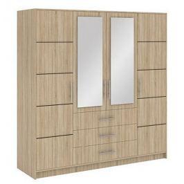 BALI D4 šatní skříň, dub sonoma