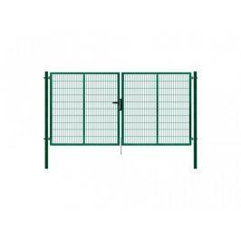 Dvoukřídlá brána SUPER poplastovaná Zn+PVC 4138×1980 mm