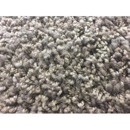 Kusový koberec Color Shaggy šedý, průměr 80 cm