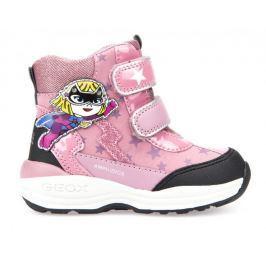 Geox dívčí zimní obuv New Gulp 22 růžová