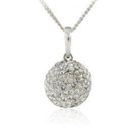 MHM Náhrdelník Kulička M5 Crystal 31176 stříbro 925/1000