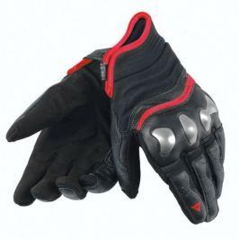 Dainese rukavice X-RUN vel.L černá/fluo-červená, kůže (pár)