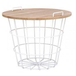 Mørtens Furniture Konferenční stolek Cala, 59 cm, bílá