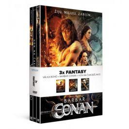 3x Fantasy (3DVD): Barbar Conan + Válka bohů + Hon na čarodejnice   - DVD