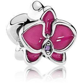 Pandora Stříbrný korálek Orchidej 792074EN69 stříbro 925/1000