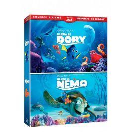Kolekce Hledá se Nemo 3D+2D + Hledá se Dory 3D+2D (4BD)   - Blu-ray