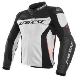 Dainese bunda RACING 3 vel.50 bílá/černá/červená, kůže