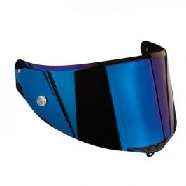 AGV plexi  RACE 2, zrcadlová modrá - pro přilby  PISTA GP, CORSA, GT VELOCE/S (1ks)