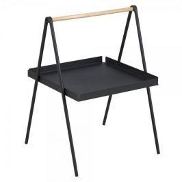Design Scandinavia Odkládací stolek Lopes obdélník, 50 cm, černá