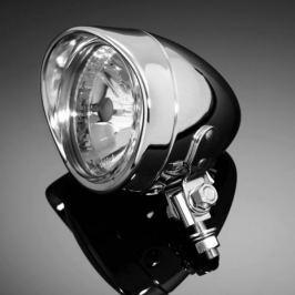 Highway-Hawk přídavné moto světlo  TECH GLIDE, d=90mm, E-mark, chrom (1ks)