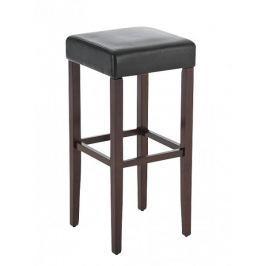 BHM Germany Barová židle Jully (SET 2 ks), cappuccino podnož, cappuccino / černá
