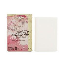 Castelbel Luxusní jemné mýdlo v plechové krabičce Růžová lilie a bílý čaj 170 g