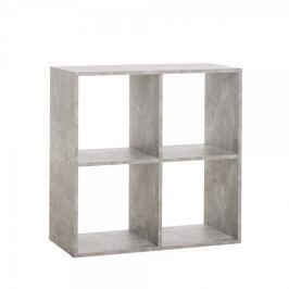 FARELA Regál s 4 policemi Lamar, 71 cm, beton