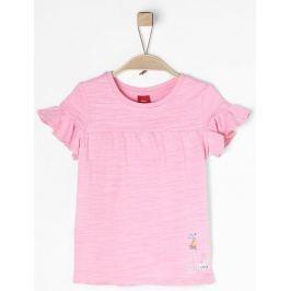s.Oliver dívčí tričko 104 - 110 světle růžová