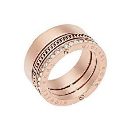 Michael Kors Pozlacený ocelový prsten s krystaly MKJ5838791 (Obvod 59 mm)
