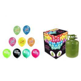 Helium sada NAROZENINOVÁ PÁRTY MALÁ + 13 latexových balónků