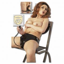 Dámské latexové kalhotky s dildy (S)