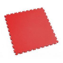 Fortelock Červená plastová vinylová zátěžová dlaždice Industry 2020 (kůže) - 51 x 51 x 0,7 cm
