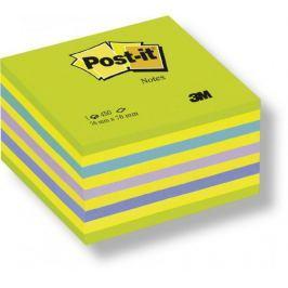 Blok samolepicí Post-it 76 x 76 mm zelený neon
