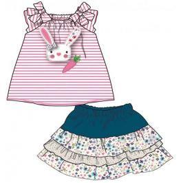 Mix 'n Match dívčí šaty 80 růžová/modrá