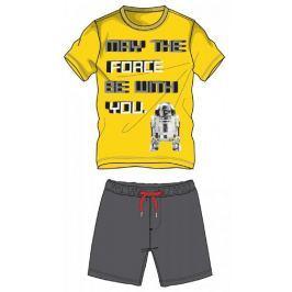 Disney by Arnetta chlapecký letní set Star Wars 104 šedá/žlutá