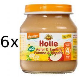Holle Bio 100% Jablko & Banán - 6 x 125g