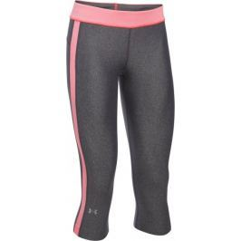 Under Armour HG Armour Sport Capri Carbon Heather Brilliance Metallic Silver XS
