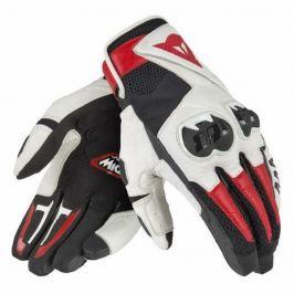 Dainese rukavice MIG C2 vel.XXL Unisex, černá/bílá/červená, kůže