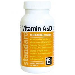 Natural Vitamín A/D 10 000/400 IU 100 tablet
