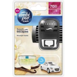 Ambi Pur Osvěžovač vzduchu, Car Fresh Escapes - Moonlight Vanilla, strojek + náplň 7 ml