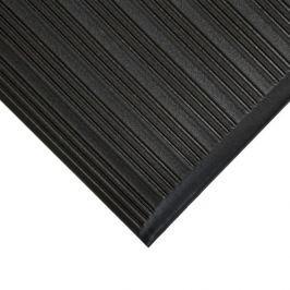 Černá gumová protiskluzová protiúnavová průmyslová rohož - 150 x 90 x 0,9 cm