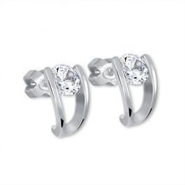Brilio Silver Stříbrné náušnice s krystalem 436 001 00237 04 - 1,87 g stříbro 925/1000