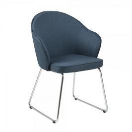 Design Scandinavia Jídelní židle Milena, tm. modrá