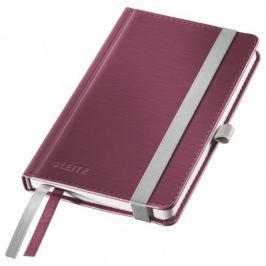 Zápisník Leitz Style A6 tvrdé desky linkovaný granátově červený
