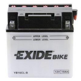 Exide baterie  EB16CL-B, 12V 19Ah, za sucha nabitá s antisulfační úpravou. Náplň součástí balení.