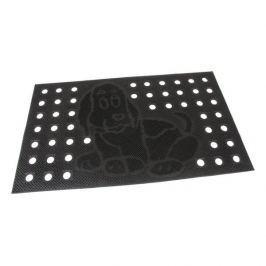 FLOMAT Gumová vstupní děrovaná kartáčová rohož Dog - 75 x 45 x 0,7 cm